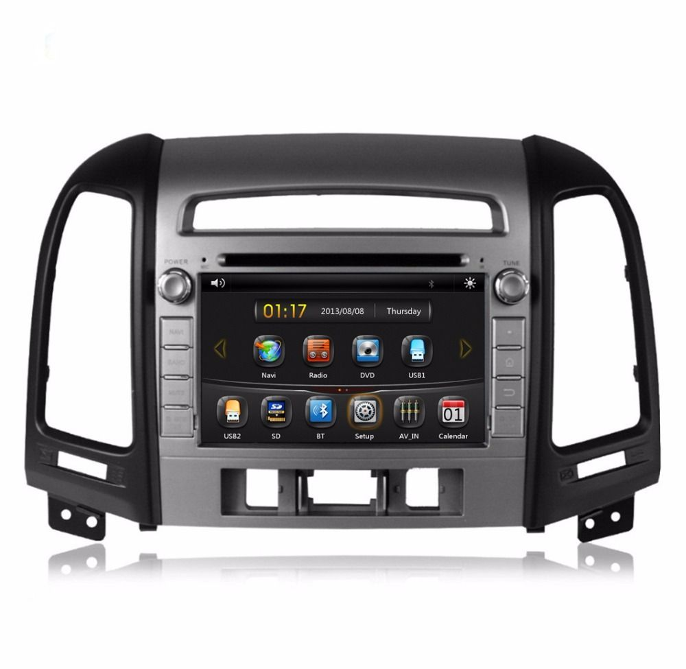 New 2 Din 7 Car Radio Dvd Gps Navigation For Hyundai Santa Fe