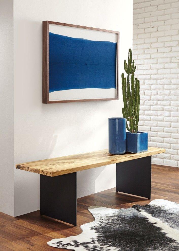Foyer Minimalist Shoes : Modern minimalist entryway bench animal skin rug blue pop