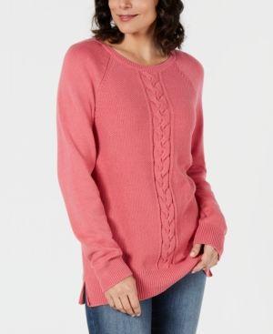 Karen Scott Petite Cable-Detail Sweater 8c9740291