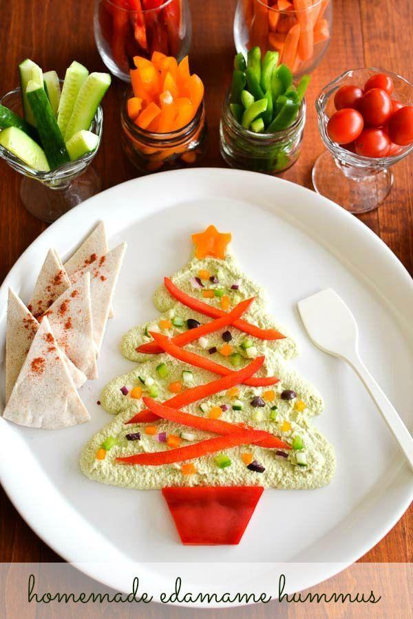 Homemade Edamame Hummus - the perfect, last minute Christmas