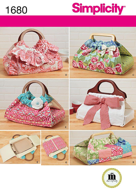 Simplicity Variety Handbag Patterns Shoulder Totes Fashion Drawstring Bag Vest