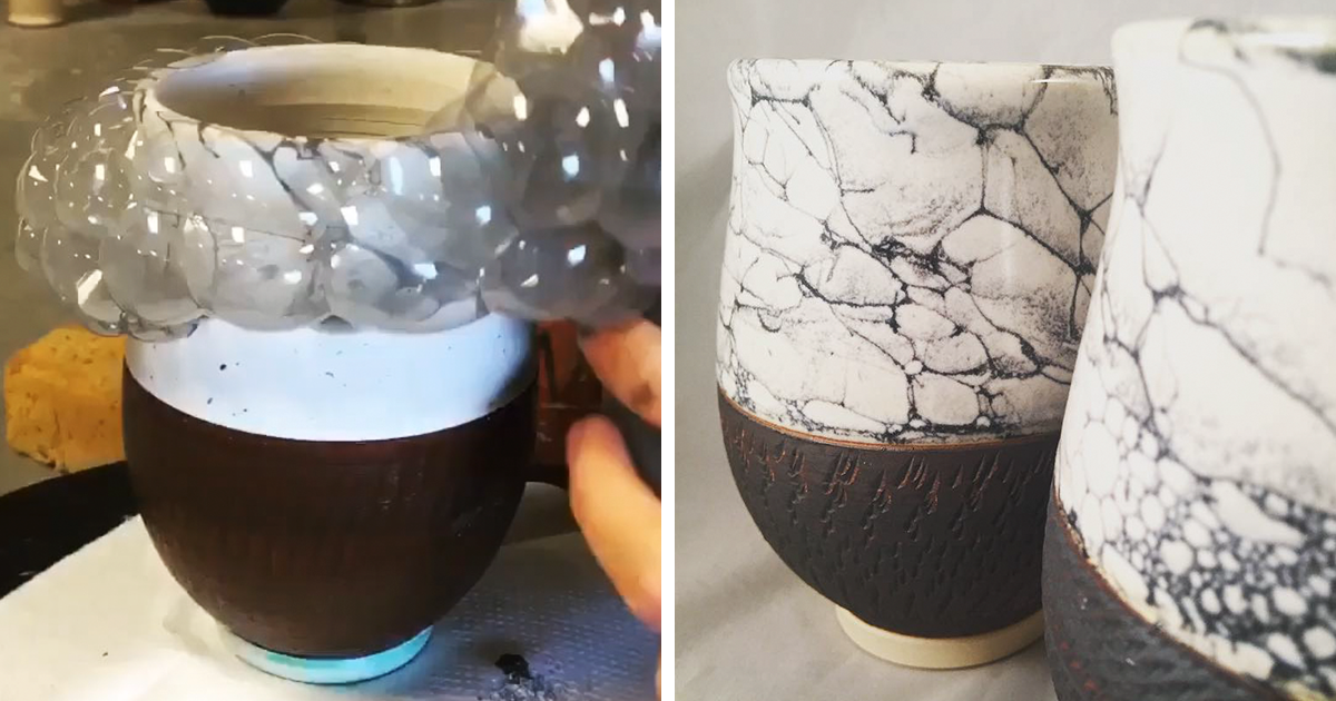 This Artist Uses Bubbles For Painting Her Pottery https://plus.google.com/+KevinGreenFixedOpsGenius/posts/69jkDW4DfWQ