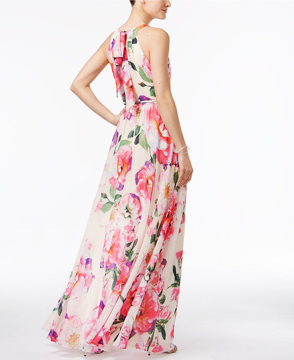Macys womens dresses wedding  INC International Concepts FloralPrint Maxi Dress Only at Macyus