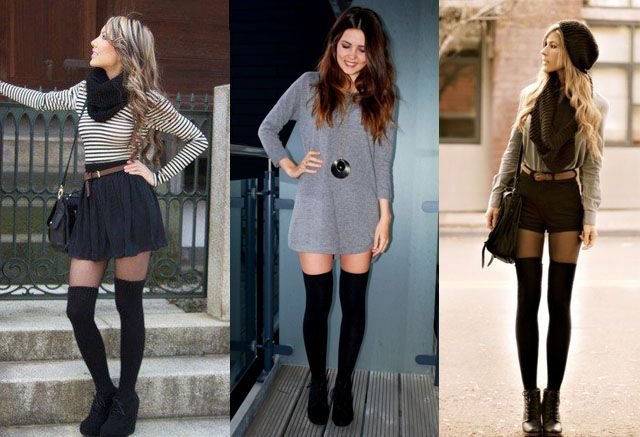 ed5fc16d958 How to Wear Thigh High Socks  12 Ways