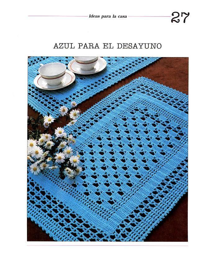 El Baul de Crochet y Telar: Patrones en crochet, como tejer tapetes ...