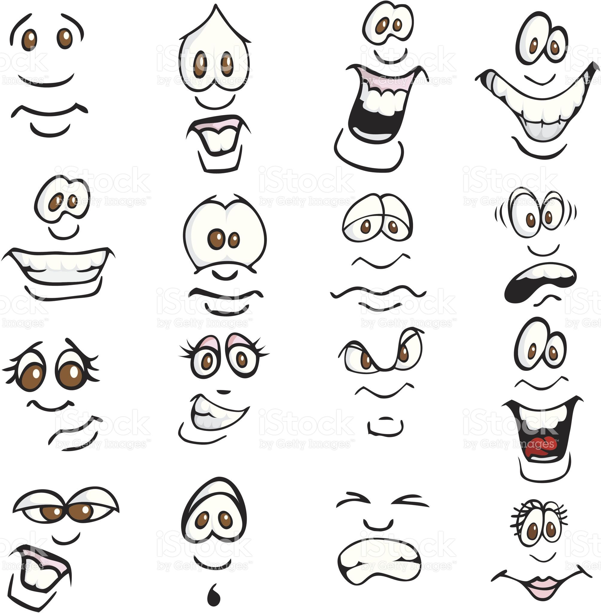 Comic Expressions Lizenzfreies vektor illustration  Cartoon