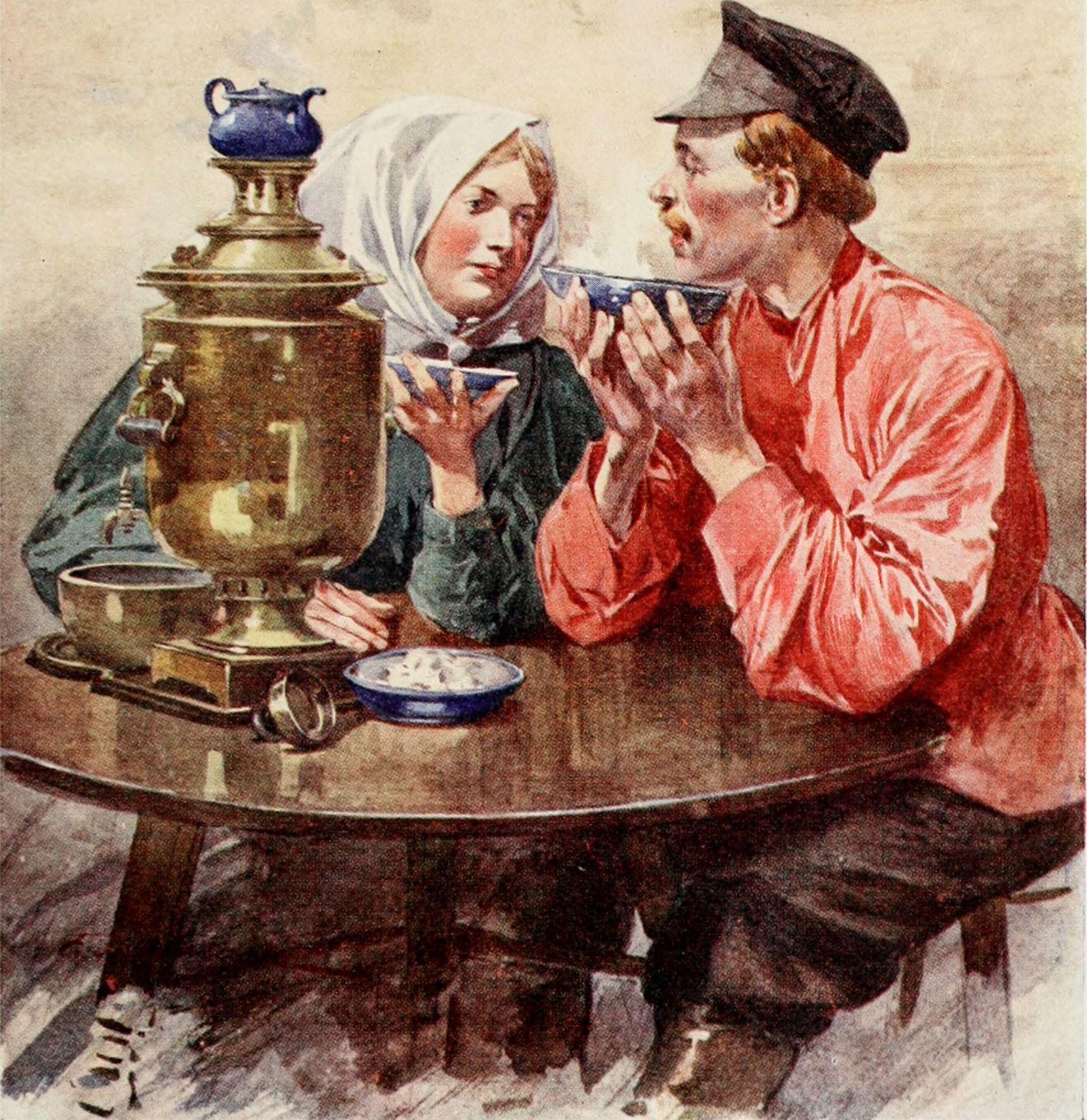 Дню города, открытка чаепитие в хоббитшире