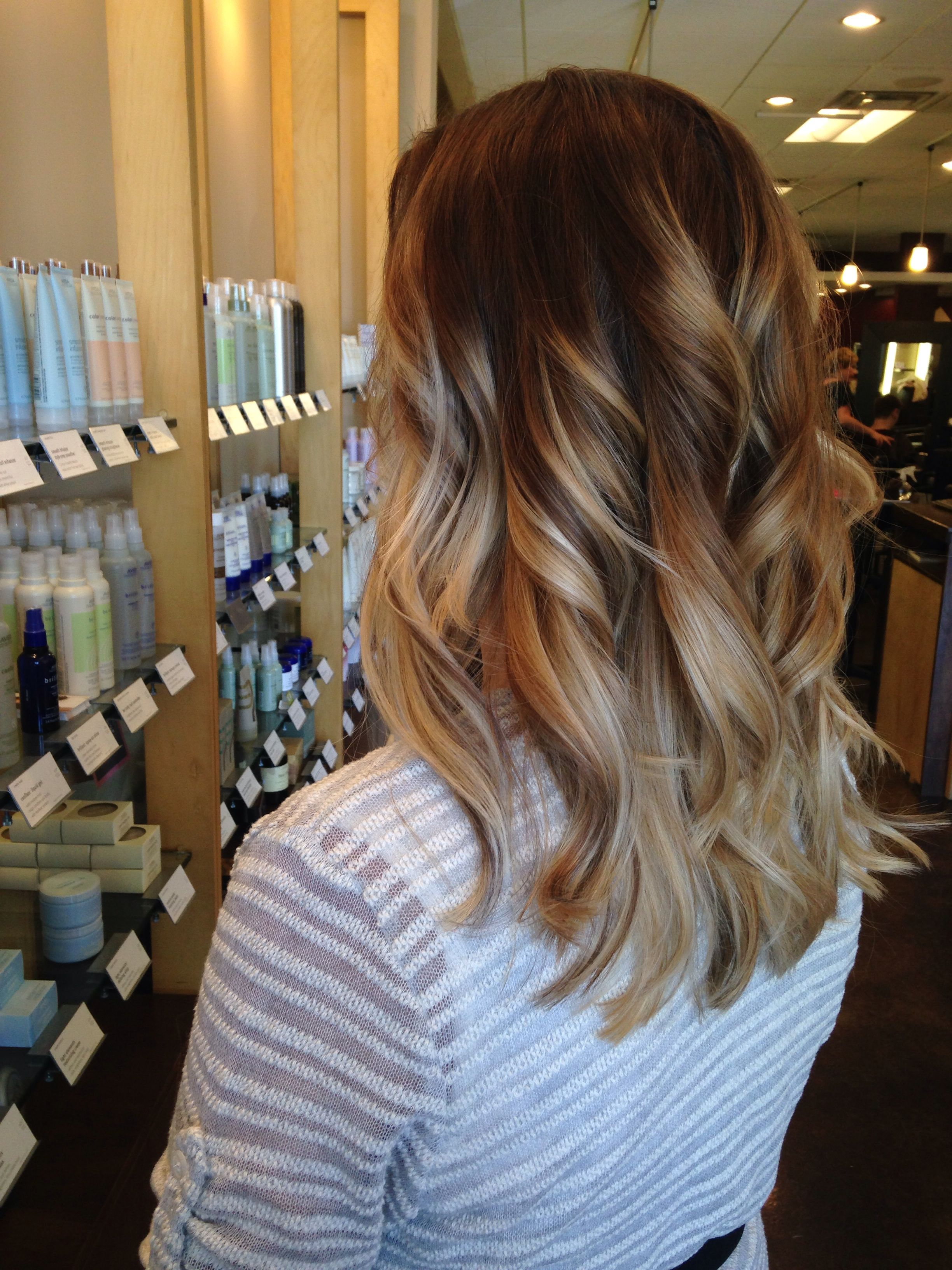 A Color Melted Bronde Ombr Using Aveda Full Spectrum Permanent