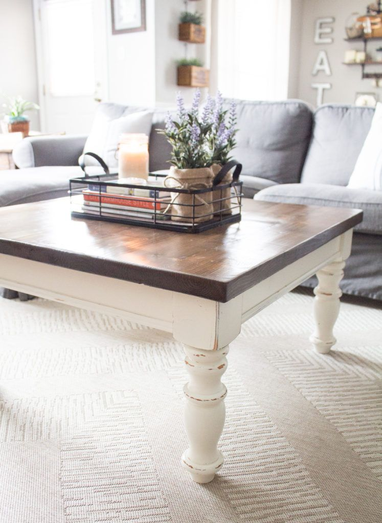 Rustic Coffee Table Makeover The Driftwood Home Coffee Table Farmhouse Coffee Table Rustic Coffee Tables