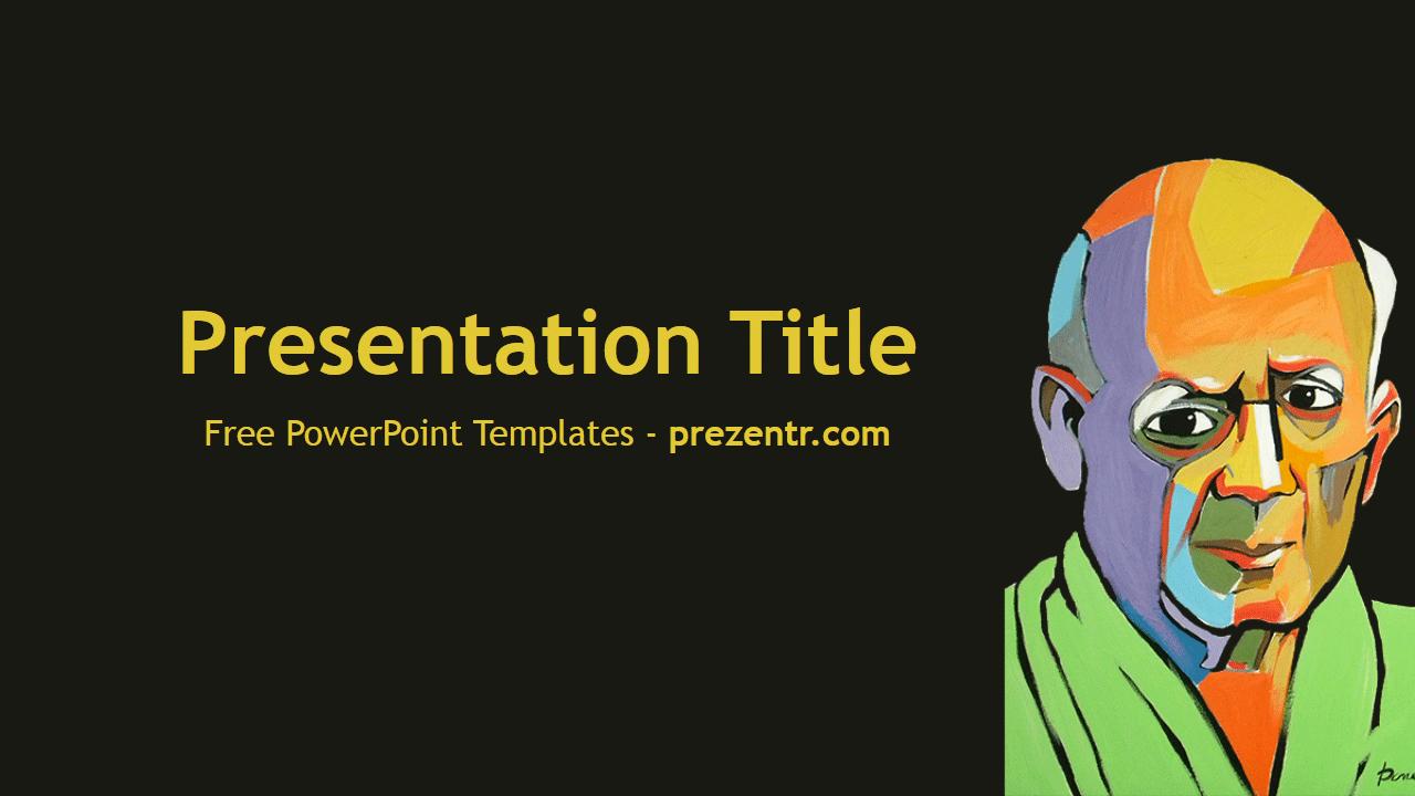 Free Pablo Picasso Powerpoint Template Prezentr Powerpoint Templates 템플릿