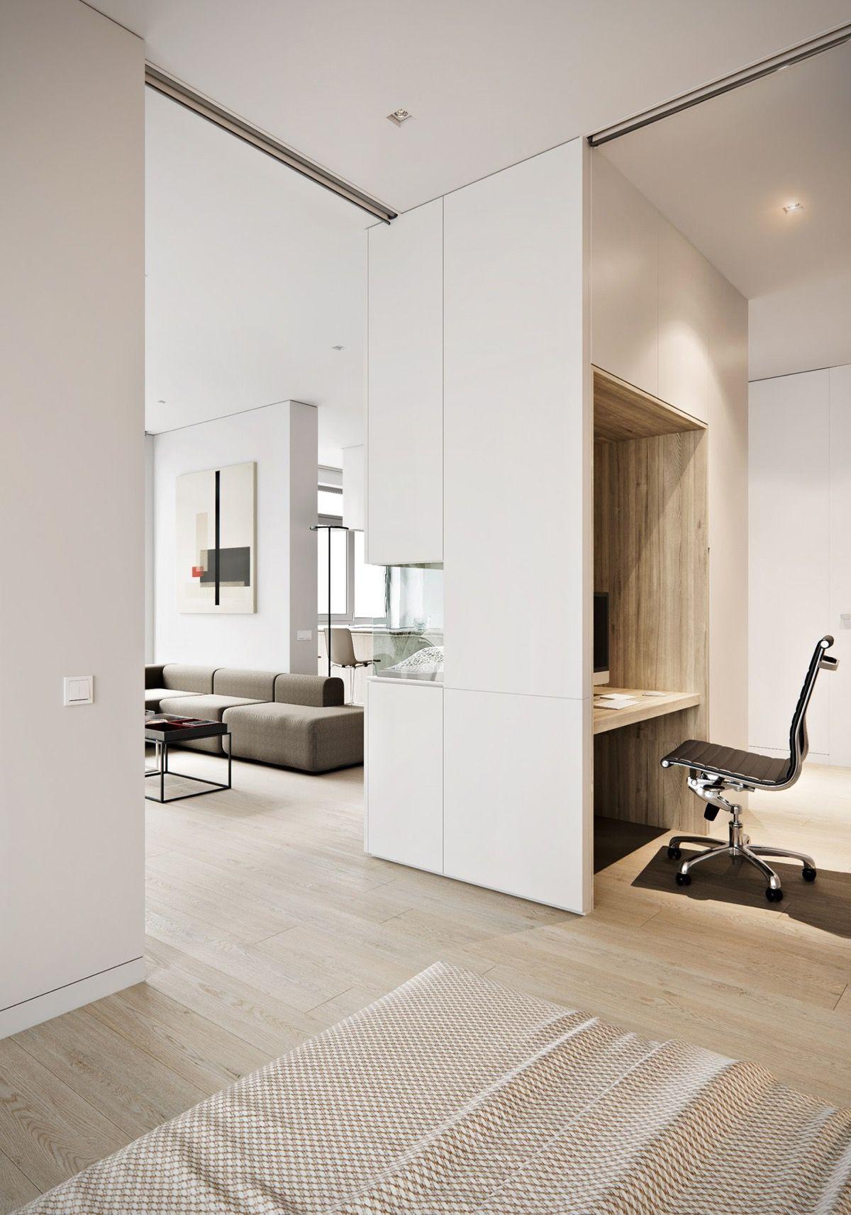 3 One-Bedroom Apartments with Floor Plans   Minimalist ...