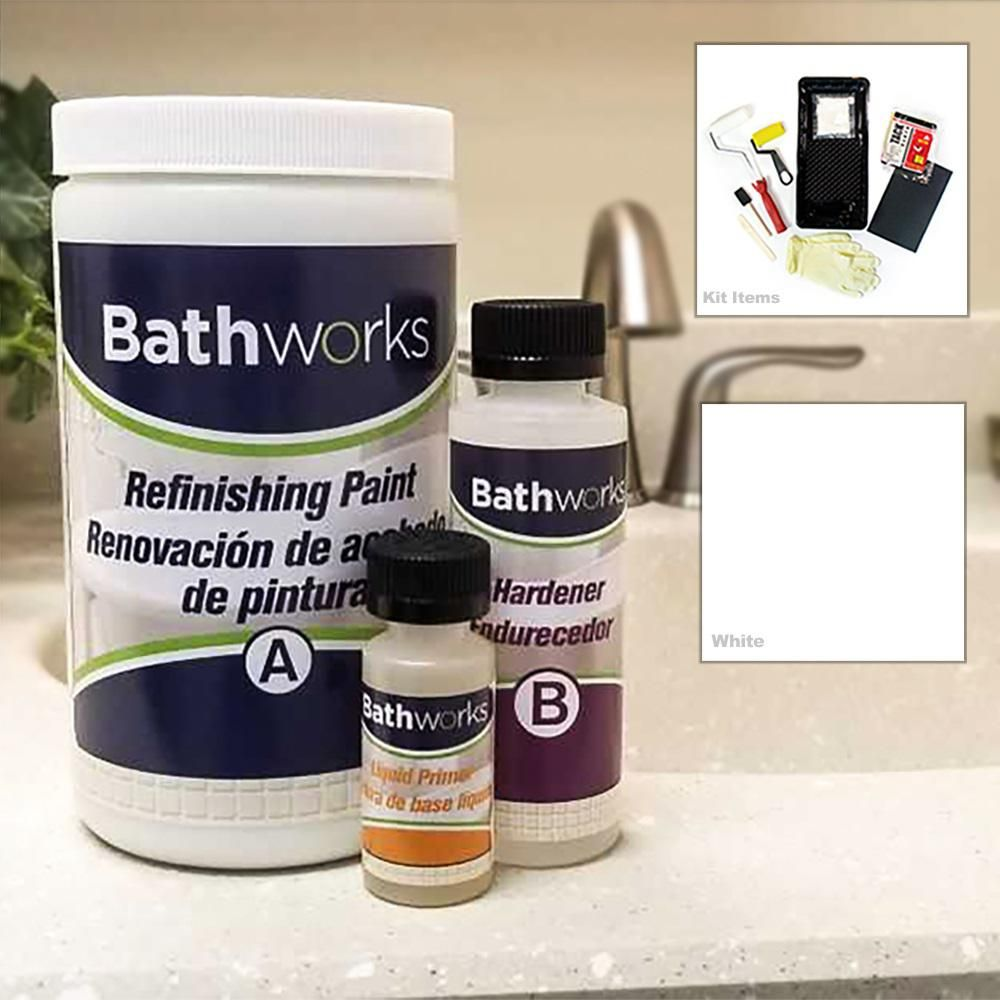 Bathworks 20 Oz Diy Bathtub And Tile Refinishing Kit White High