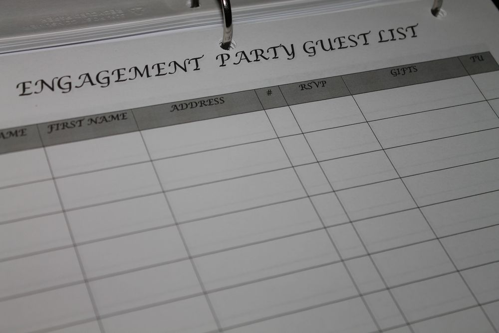 Engagement Party Guest List is the perfect template to organize - wedding guest list template