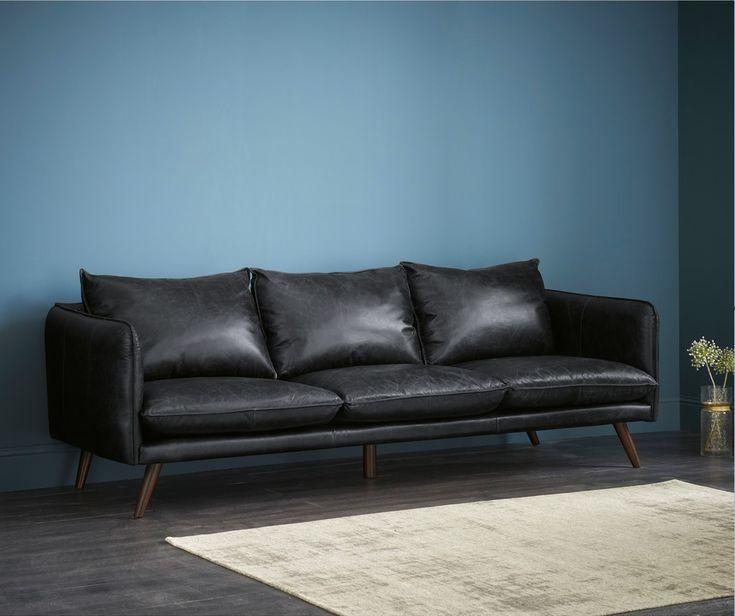 Canapes En Cuir Noir In 2020 Canape Sofa Outdoor Sofa Sofa