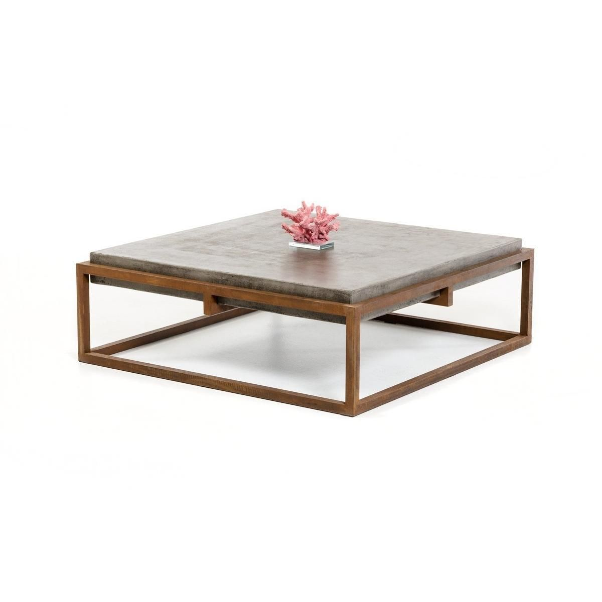 Modrest Shepard Modern Concrete Coffee Table Concrete Coffee