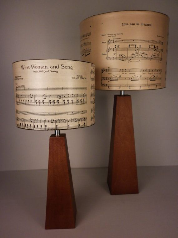 Diy Lamp Shades Brilliant By Ordervintage Music Notes  Songbook Lamp & Light Shades Or Inspiration Design