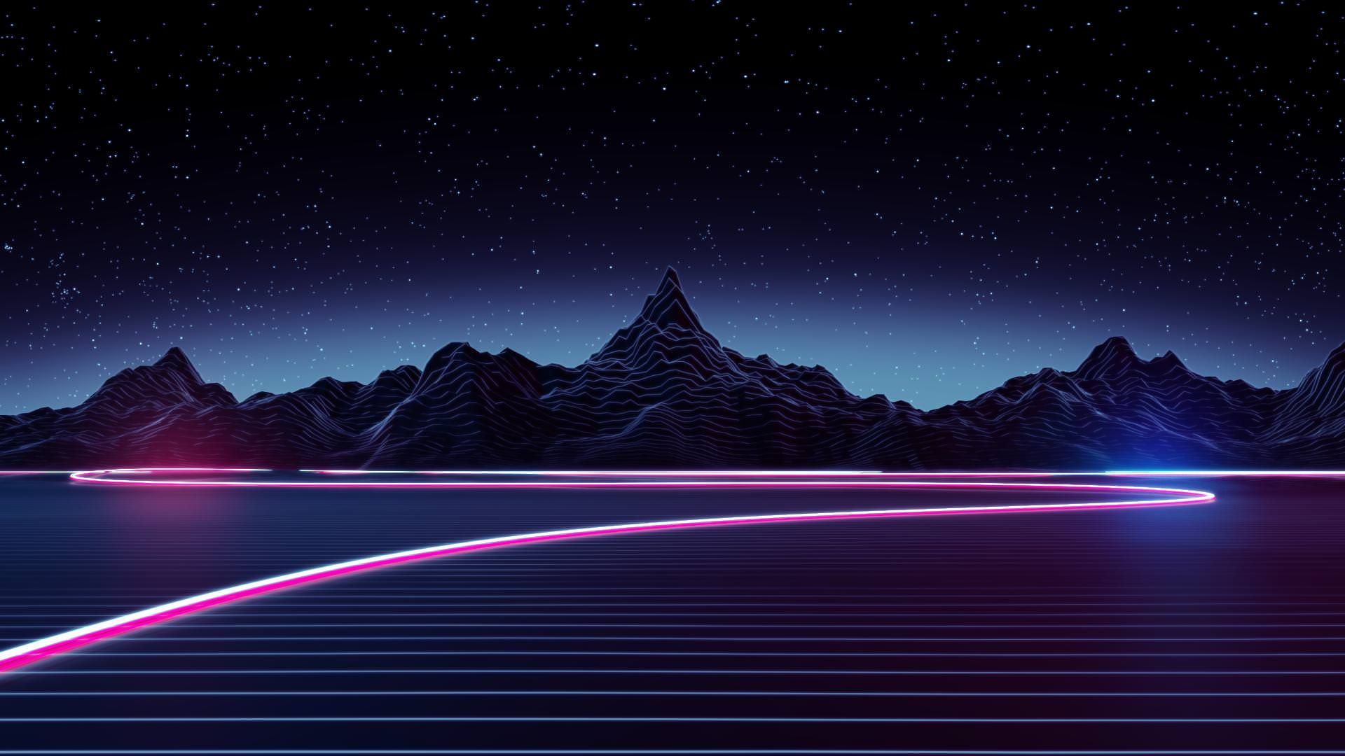 80 S Synthwave Outrun Wallpaper Dump 1080p Imgur Paysage