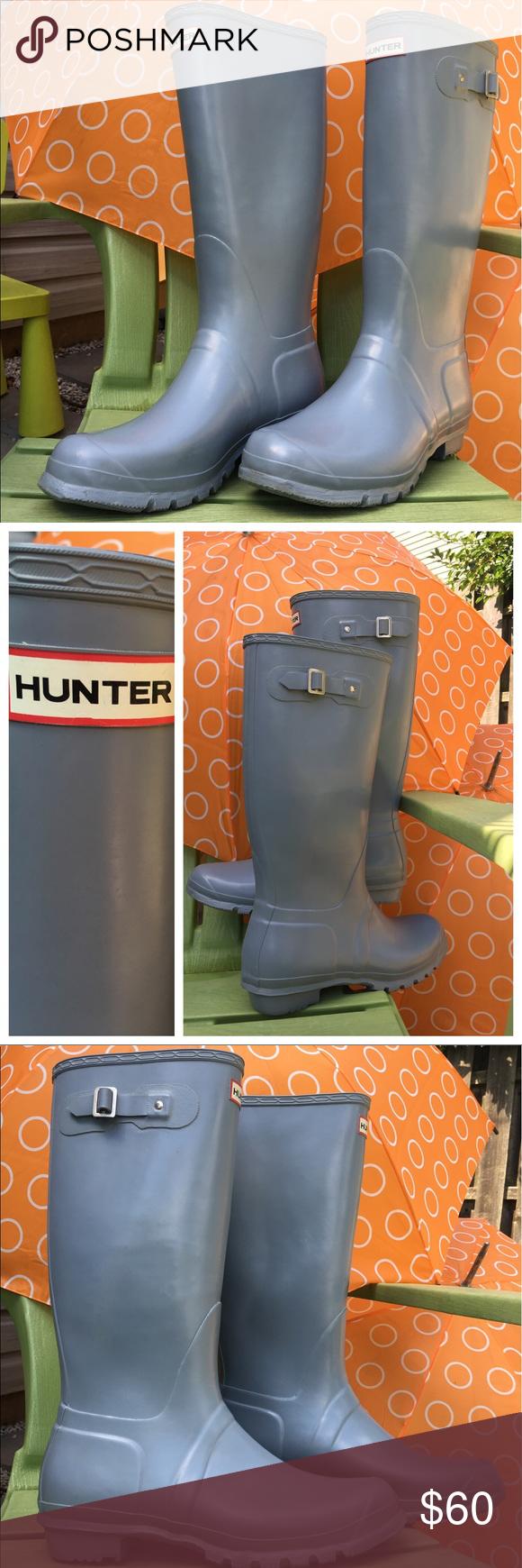 Hunter Rain Boots Gray Size 13 Men 14 Women   Rain boot