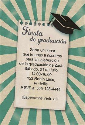 únete A La Fiesta De Graduación Printable Invitation