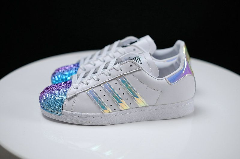 check-out ec2fc ccf2a Adidas Superstar 80s Metal Toe Diamond TOE Petol Toe White ...