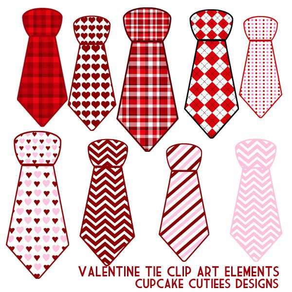 valentines day ties great for invitations cards and paper goods adorable clip