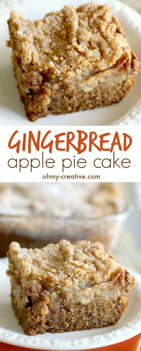 Gingerbread Apple Pie Cake Recipe - Oh My Creative