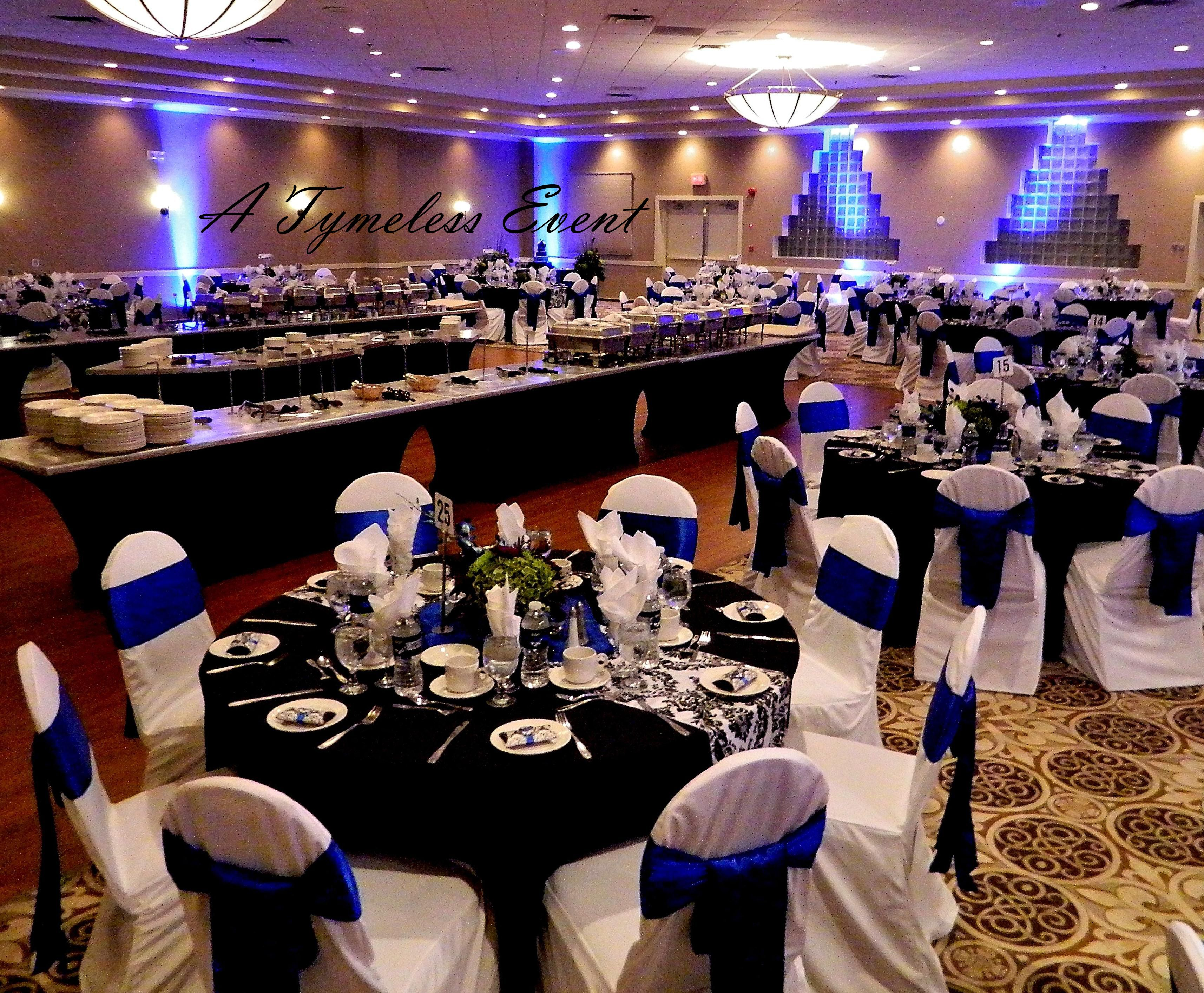 Black White And Royal Blue Wedding