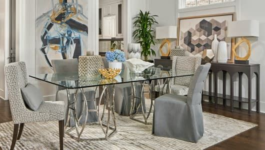 Beau The Argent Dining Room From The Jeff Lewis Collection Is Refined Stylish  Look. Brought To You By The Jeff Lewis Team And Walter E. Smithe Furniture  + Design ...