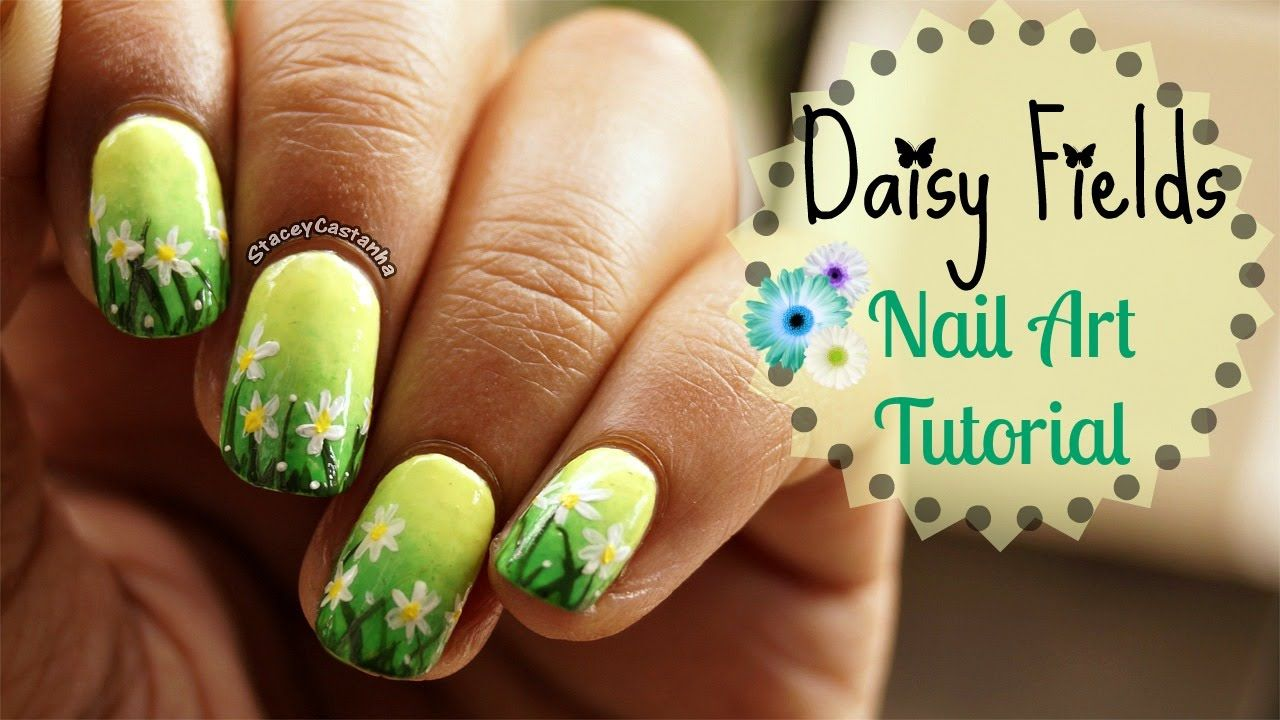 Summer Scenery Nailart Tutorial | Daisy Field https://www.youtube ...