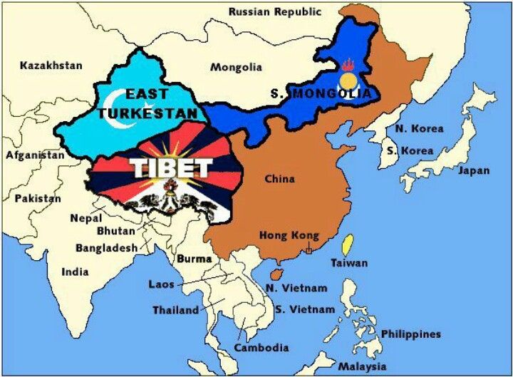 Tibet map Tibet Pinterest Tibet and Nepal - new taiwan world map images