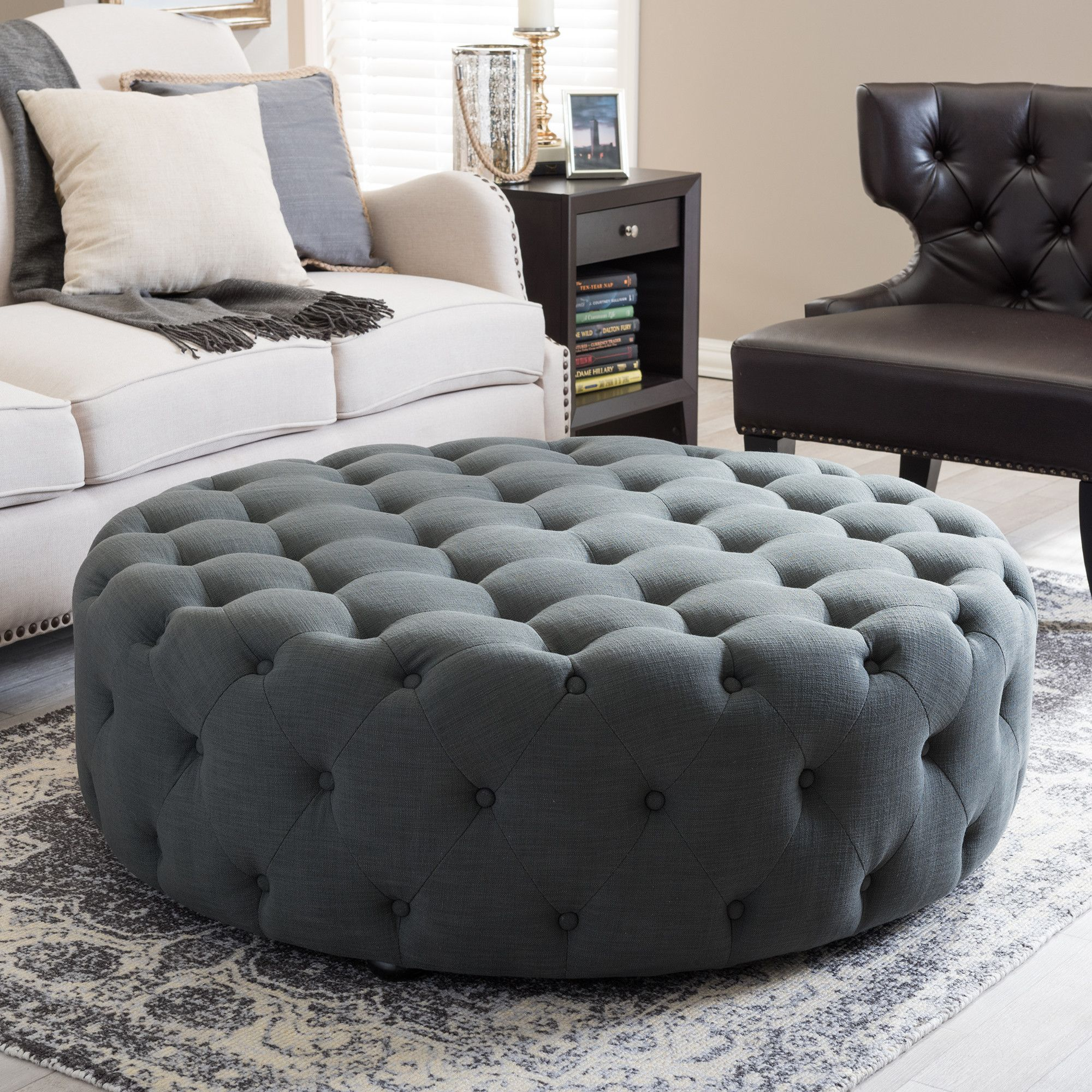 Katherine Tufted Cocktail Ottoman | soft outfit | Pinterest | Mesas
