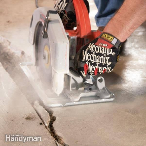 Fix the crack in your concrete garage or basement floor yourself you can fix many concrete cracks yourself solutioingenieria Image collections