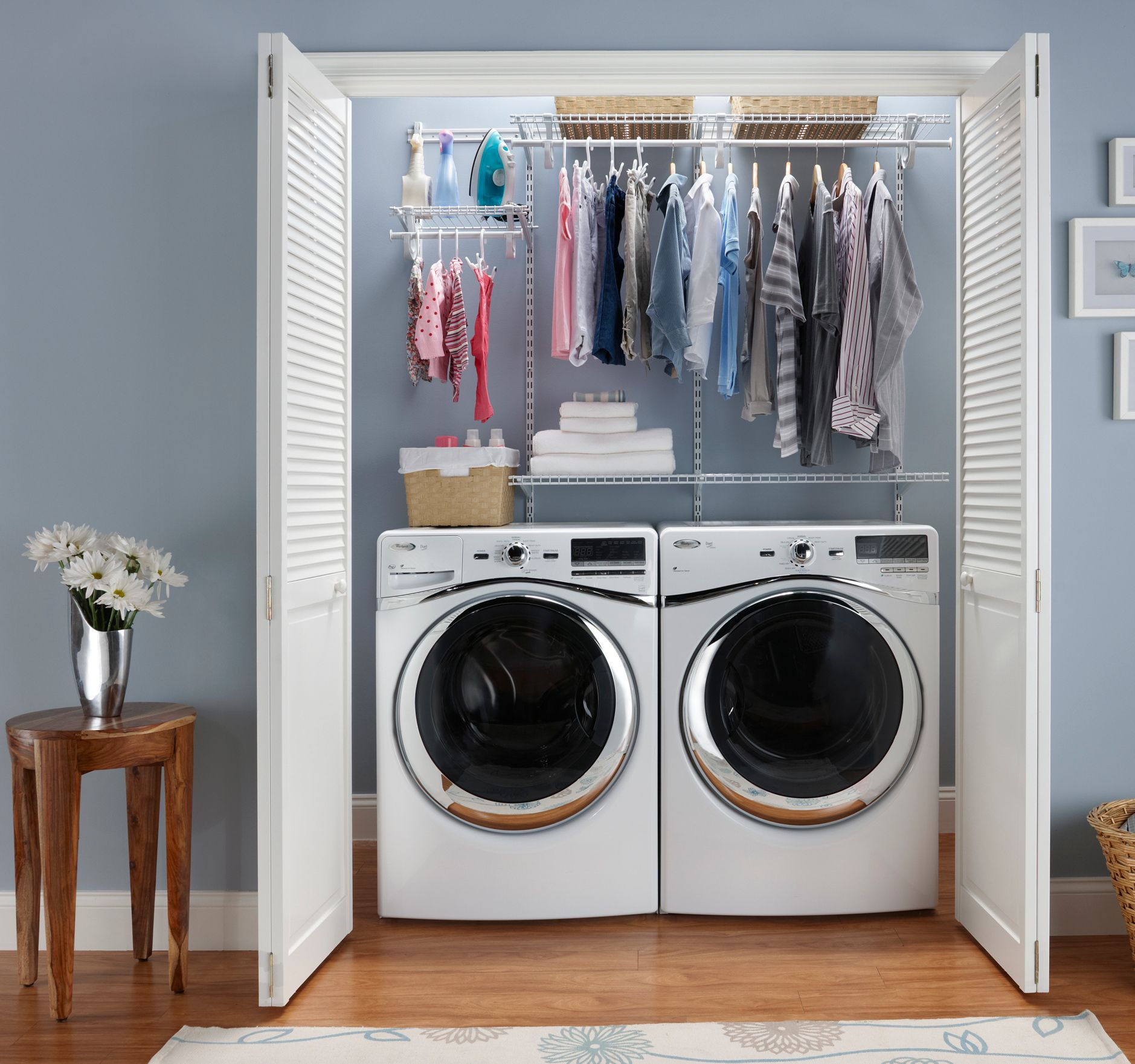 laundry room storage is one click away! find this exact shelftrack