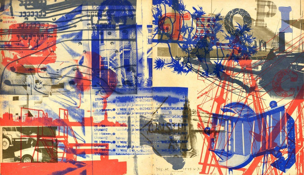 loverofbeauty:  Robert Rauschenberg:  Piece For Tropic, 1979, Edition Of 650,000   (Miami Herald)