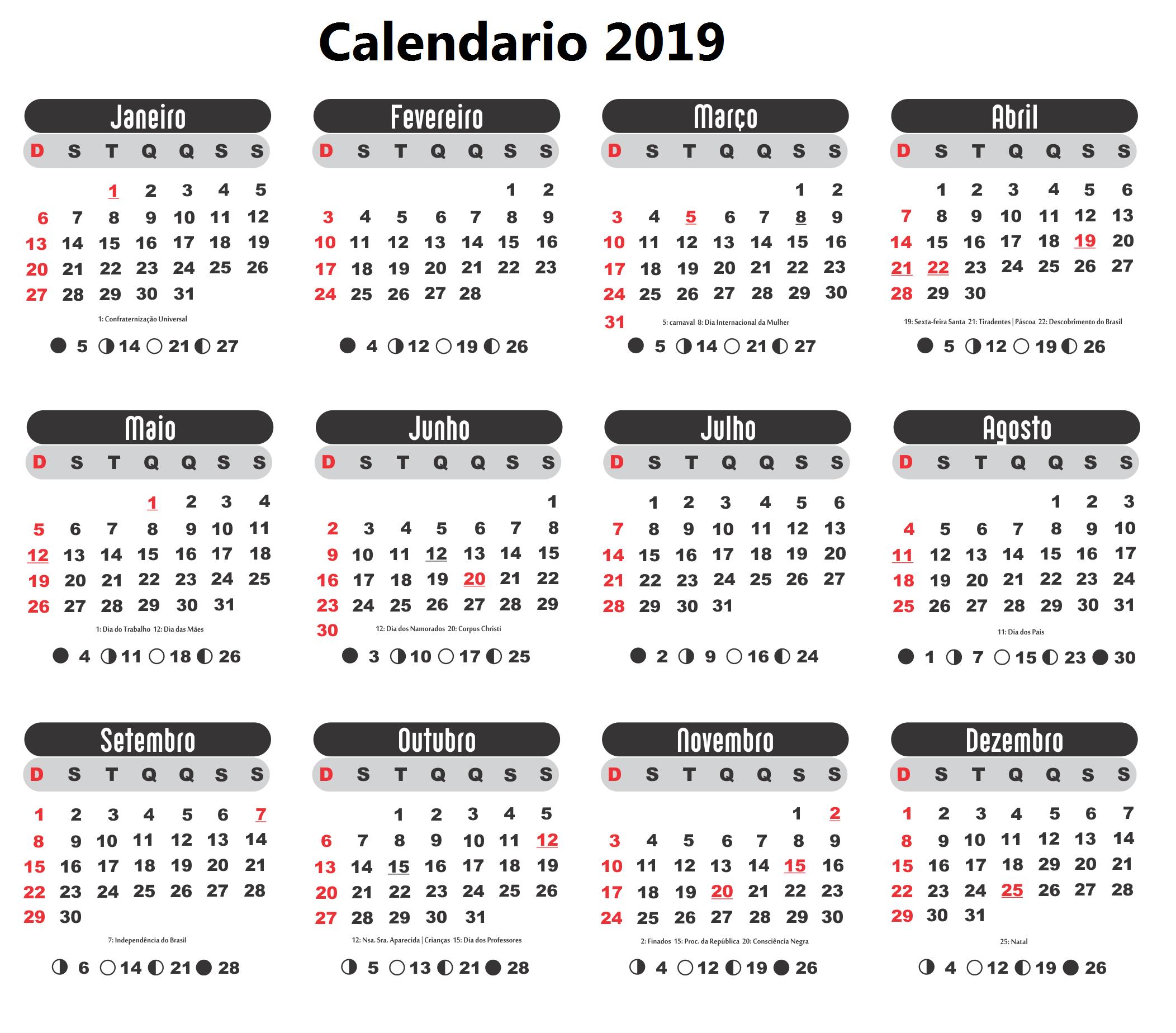 Calendario 2019 Da Stampare Calendario 2019 Da Stampare Bullet
