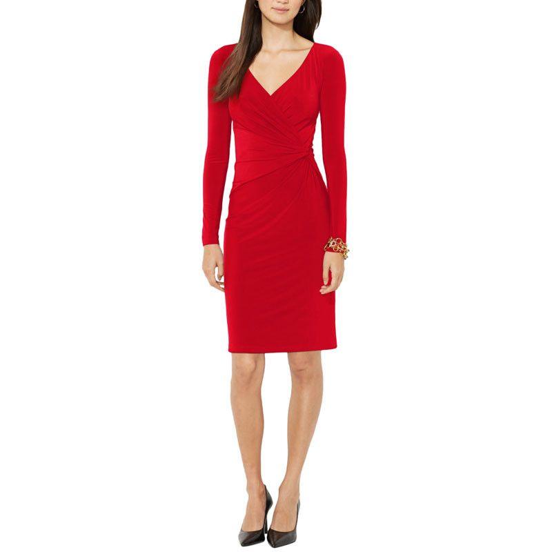 Three-Quarter-Sleeve Bridle-Print Dress from ELITIFY