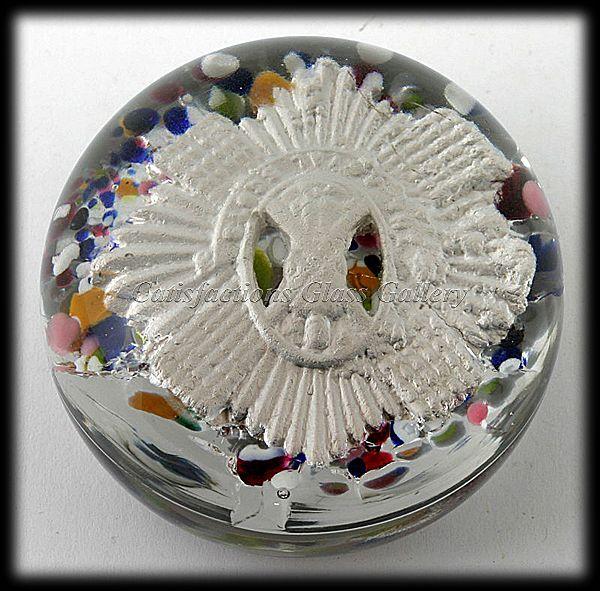 Vintage 1930s Royal Scots Regimental Badge Glass Paperweight $75