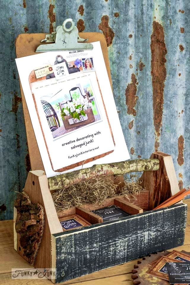 Make a reclaimed wood business card holder toolbox | Wood business ...