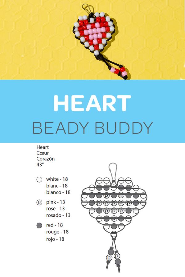 Champagne Heart Pony Beads DIY Kid Crafts