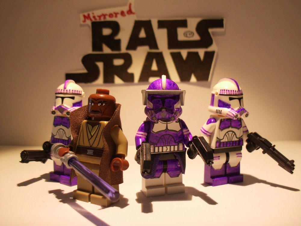 Lego Star Wars minifigures - Clone Custom Troopers - Mace Windu's 187th