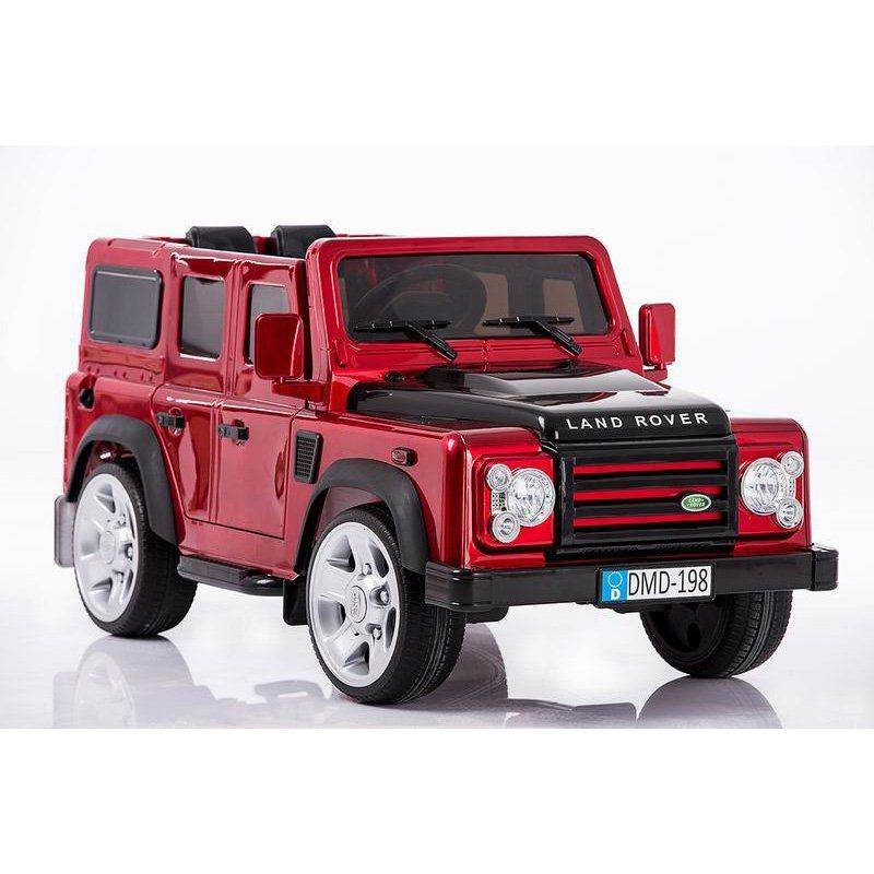 Evezo Land Rover Defender Battery Powered Riding Toy Red - DMD-198 R