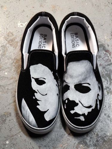 MICHAEL MYERS HAND PAINTED SNEAKERS