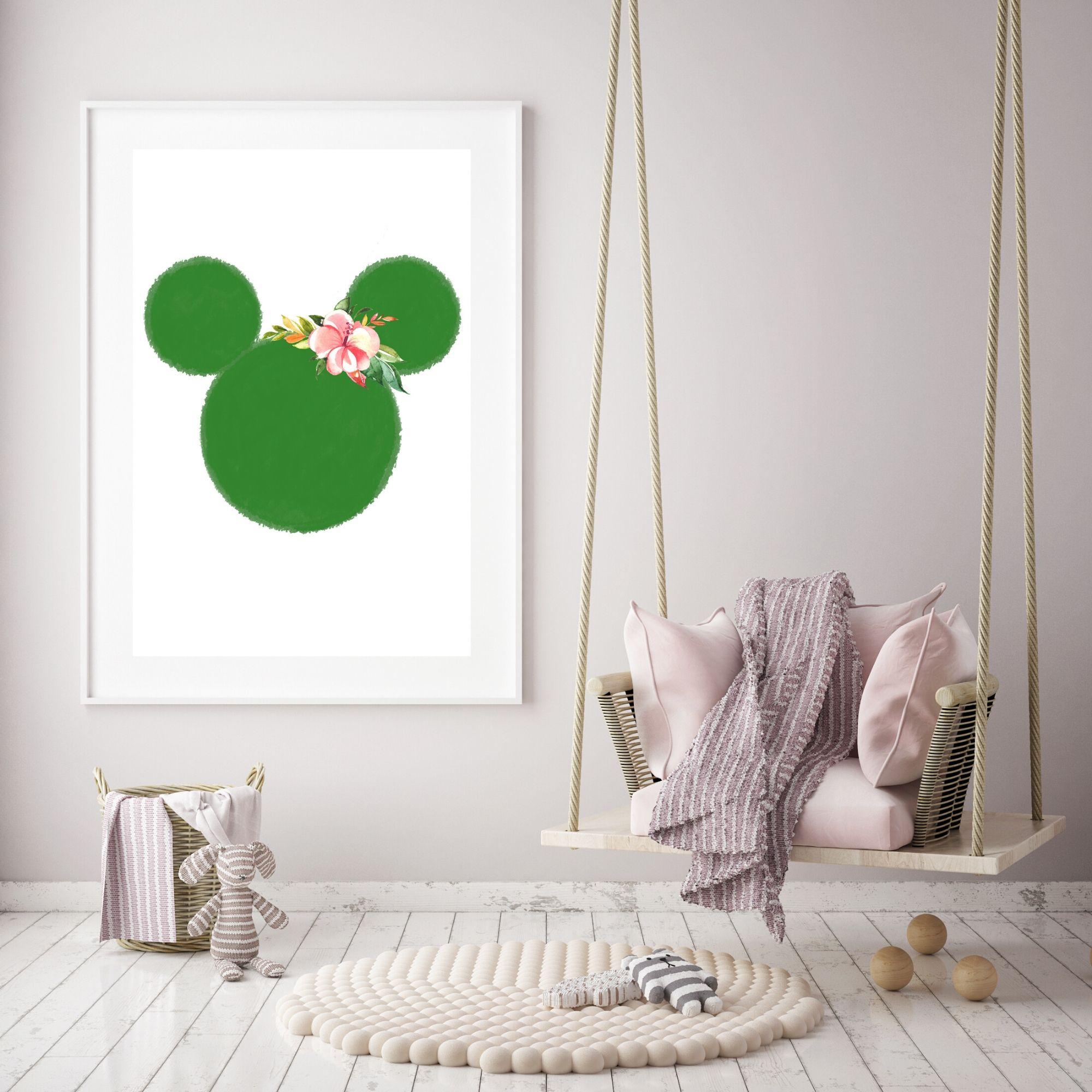 Floral Minnie Digital Download Printable Art Instant Download