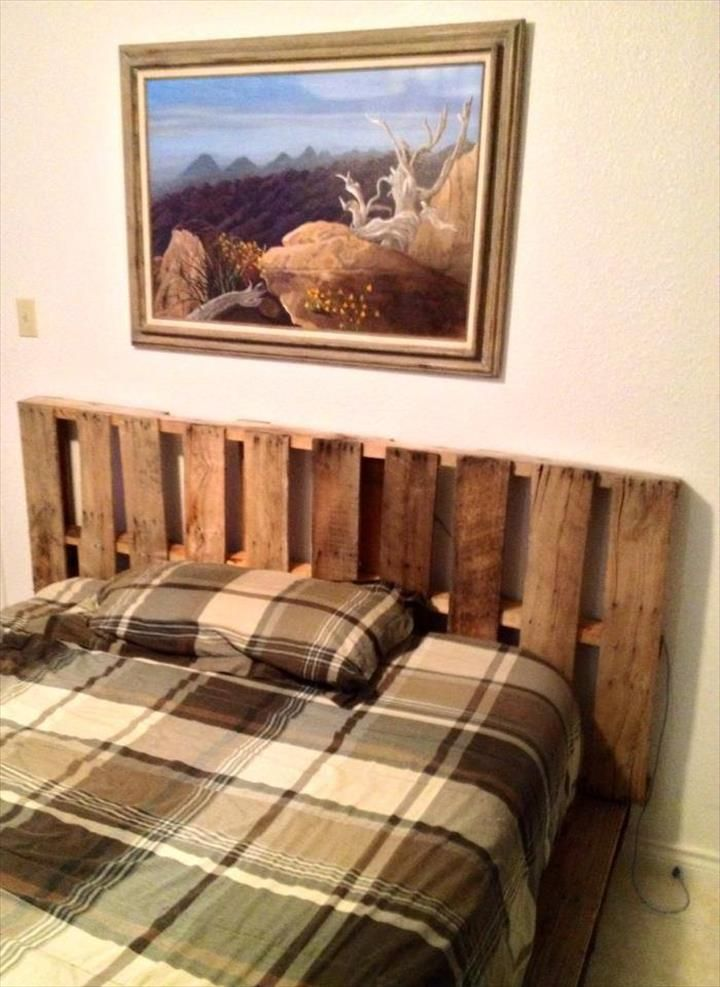 Made Pallet Bed - Rustic Style | Pallet furniture, Rustic style and ...