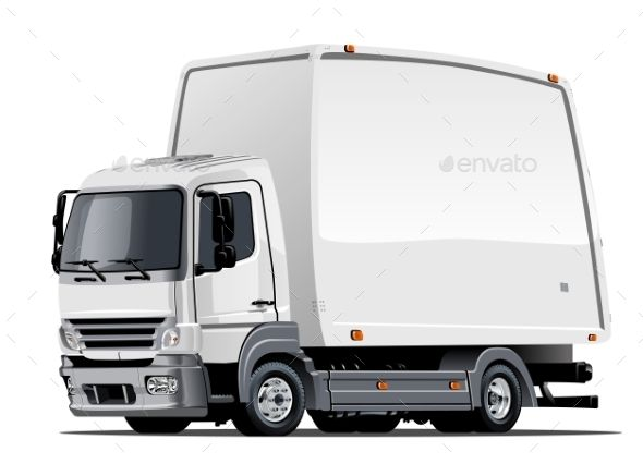 Cartoon Delivery Or Cargo Truck With Images Trucks Cargo
