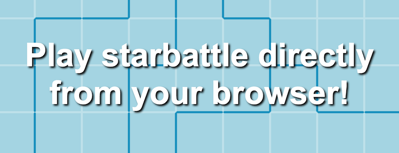 Play Star Battle Puzzles: witty, pure logic!
