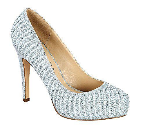 Damenschuhe Summer41 Sparkle Round Heel Toe Dressy High Heel Round Pump Silver 85 14f0c9