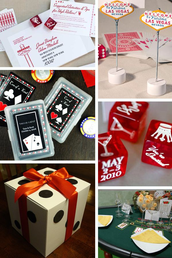 vegas...how cute and easy are those gift boxes?! | Party Ideas ...
