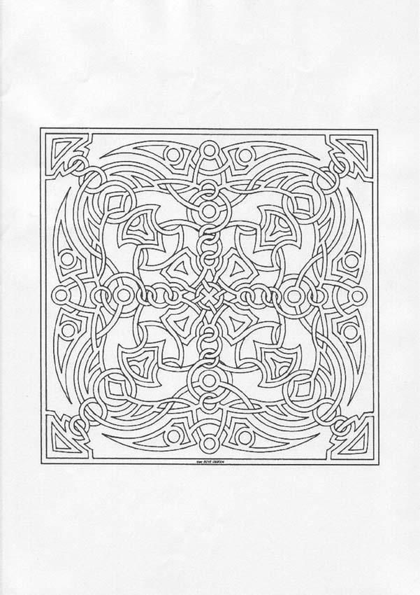 Mandala carré et symétrique. À imprimer gratuitement ou colorier en ...