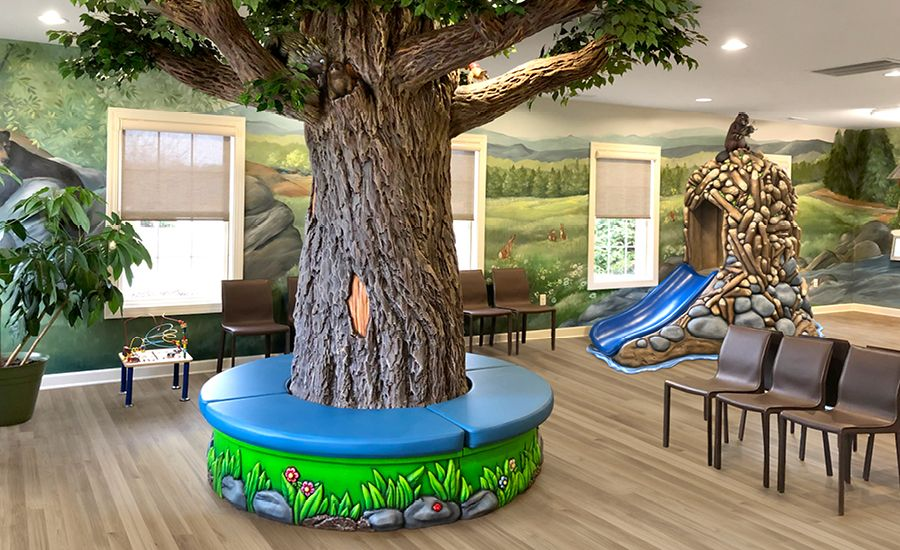 National forest themed pediatric waiting room